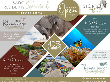 Take Advantage of Isibindi Africa Lodges SADC Residents Special - A Massive 40% Discount!