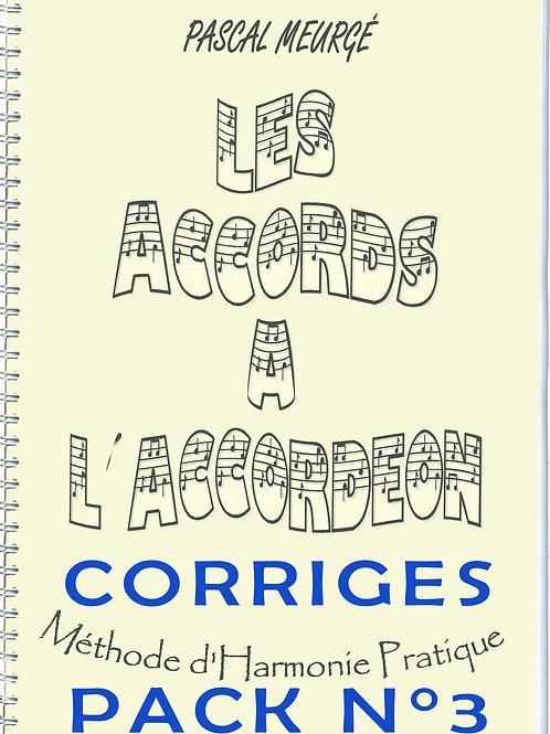 Pack corrigés n°3 - Grilles harmoniques (versions A & B)