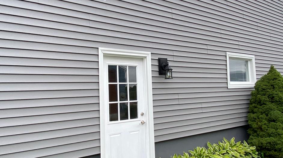 Side door to lower level