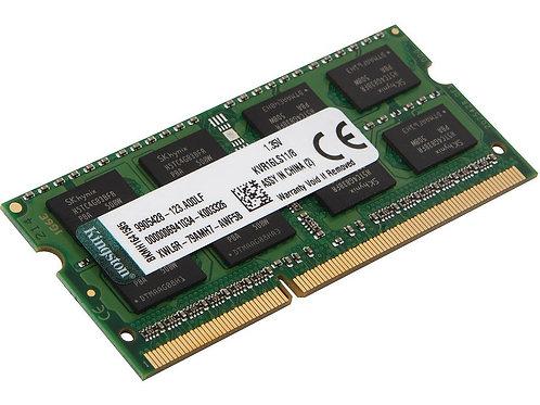 Memoria 8GB DDR3 PC3L-12800S 1600Mhz Kingston Para Portátil 1.35V Low Voltage