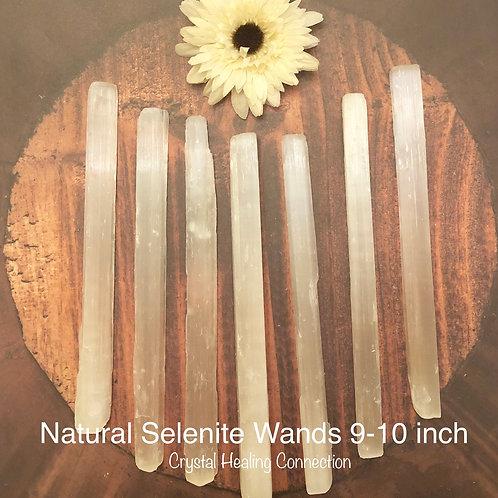 Natural Selenite Wands 9-10 inch