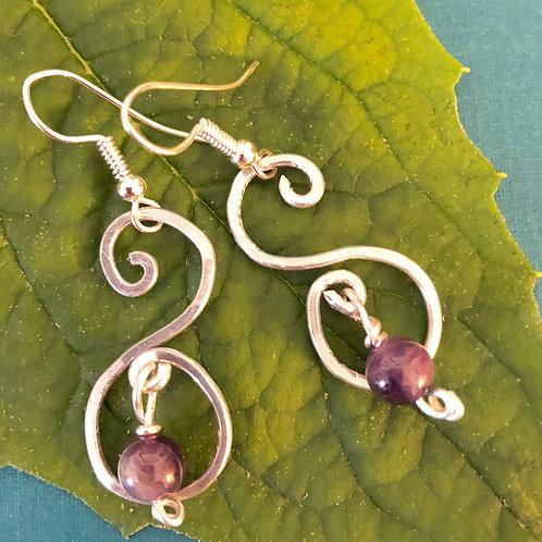Amethyst  WW Earrings