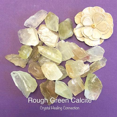 Rough Green Calcite