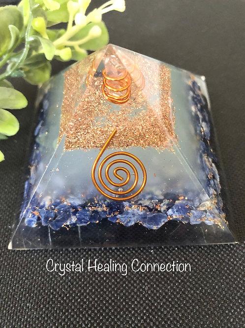 Sodalite Glow Orgonite Pyramid