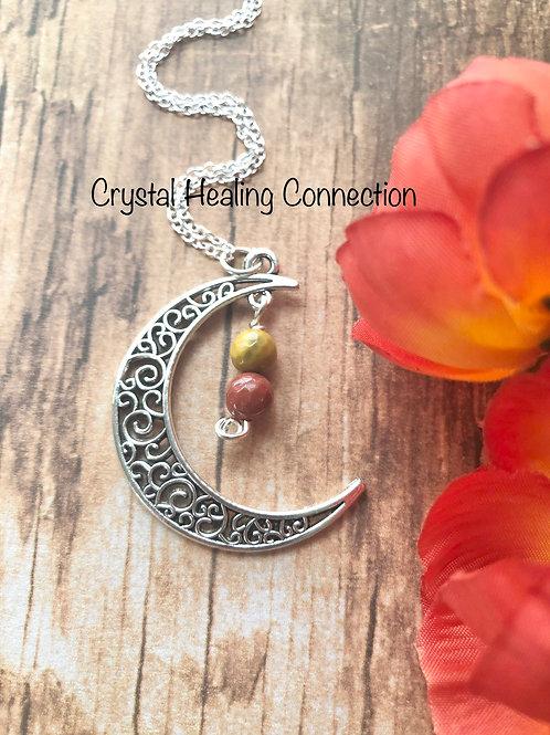 Mookaite Moon Necklace