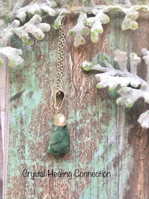 Chrysocolla Tiny Tumbled Stone Necklace