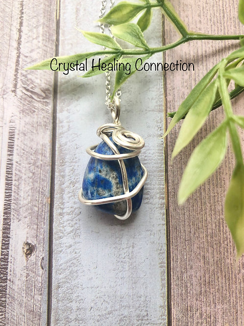 Wire Wrapped Lapis Lazuli Necklace