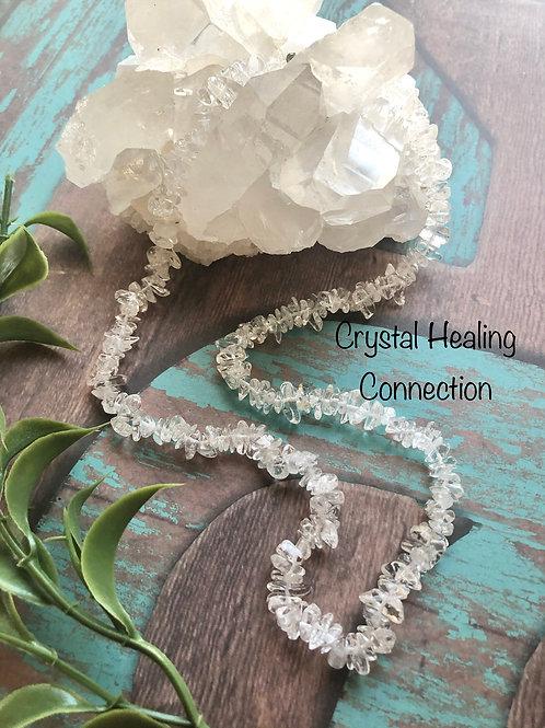Clear Quartz Crystal Chip Necklace