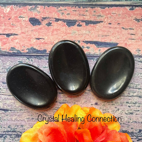 Black Onyx Worry Stones