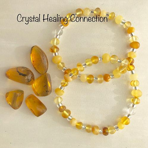 Baltic Amber Lemon Bracelets