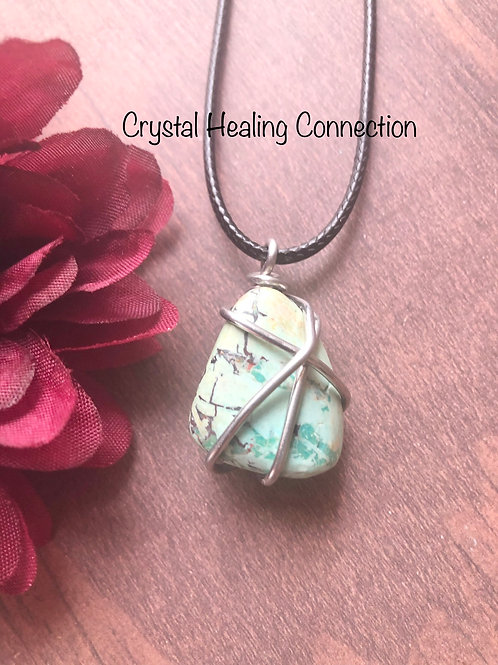 Peruvian Turquoise Wire Wrapped Necklace