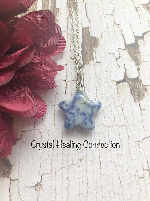 Sodalite Mini Star Necklace