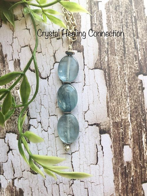 Kyanite 3 Bead Necklace