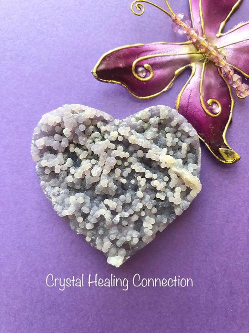 Grape Agate Heart