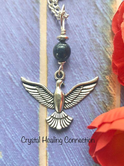 Dumortierite Bird Necklace