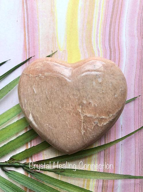Pink Moonstone Lg Heart