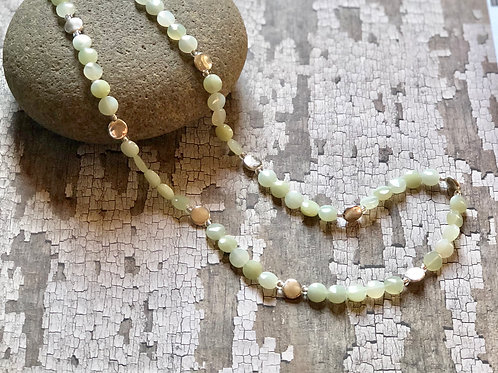 New Jade Beaded Necklace