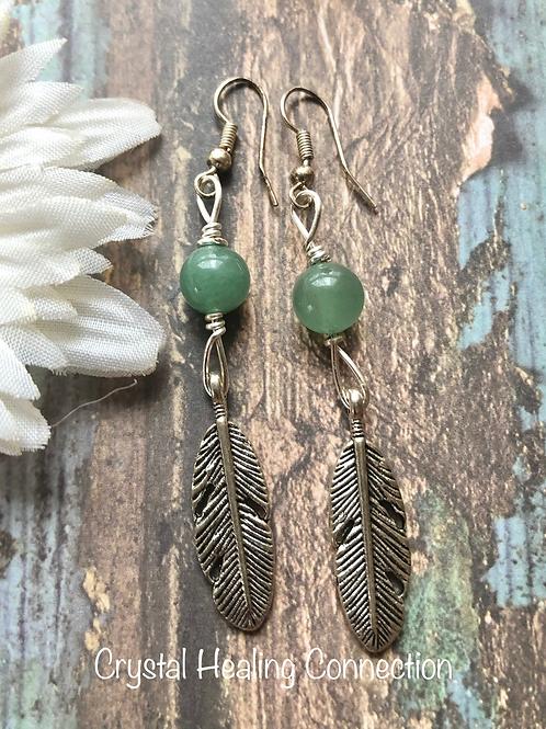 Green Aventurine Feathers