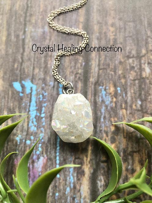 Angel Aura Druzy Stone Necklace