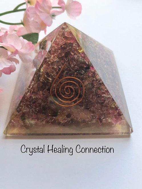 Mixed Tourmaline Orgonite Pyramid
