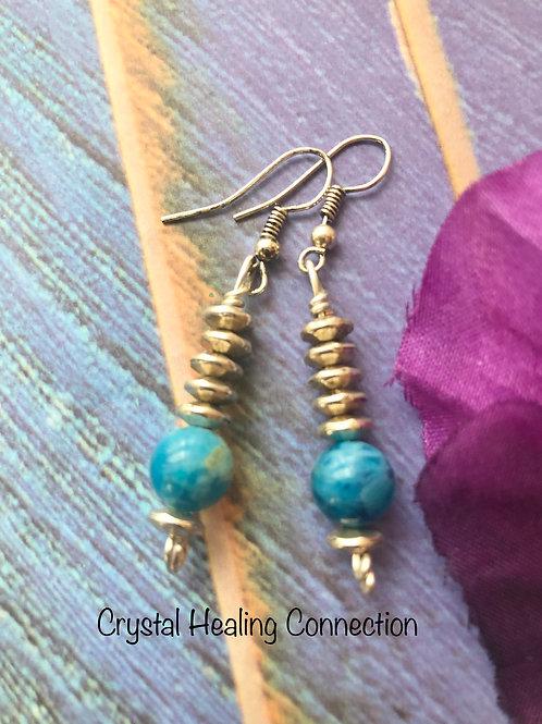 Apatite 1 Bead Earrings
