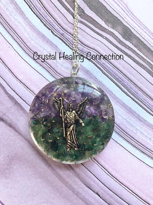 Archangel Raphael Orgonite Necklace
