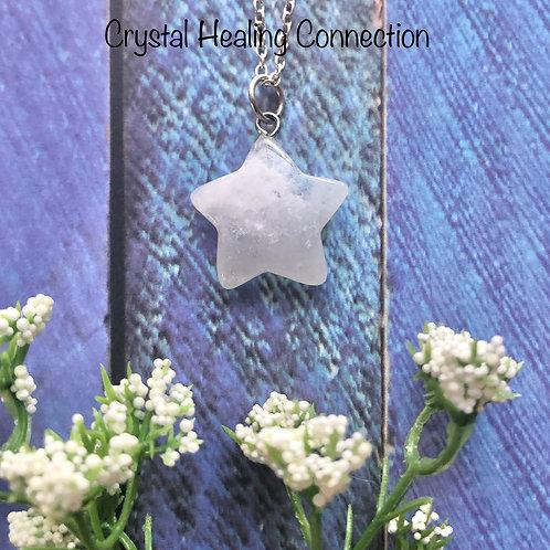 Moonstone  Mini Star Necklace