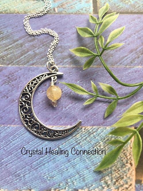 Citrine Moon Necklace
