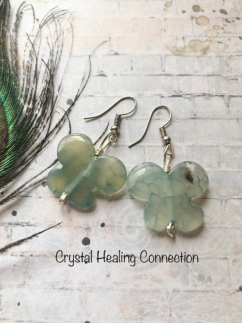 Agate Butterfly Earrings