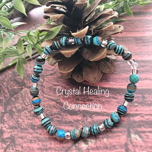 Blue Calsilica Bracelets