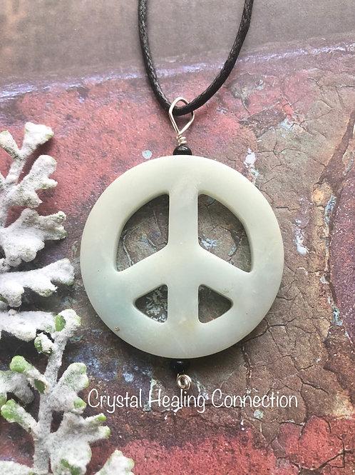 Amazonite Peace Necklace