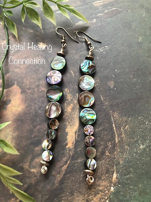 Abalone 8 Bead Earrings