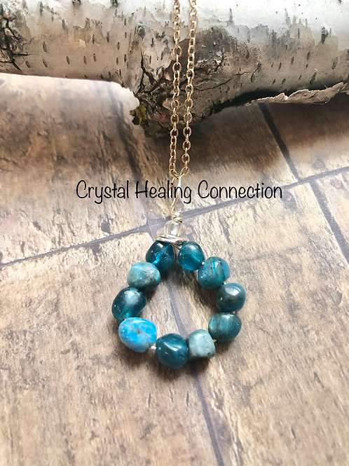 Blue Apatite Loop Necklace
