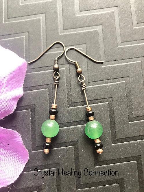 Simple Green Aventurine Earrings
