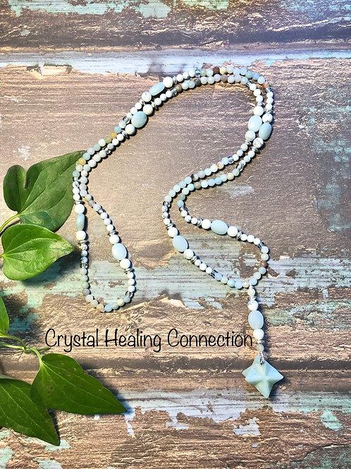 Amazonite Meracabah Long Beaded Necklace