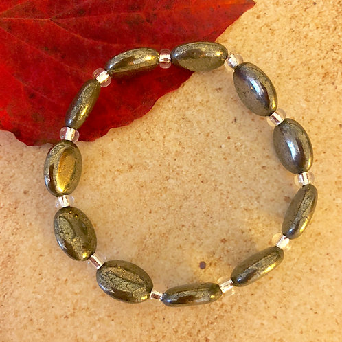Pyrite Smooth Oval Bracelets