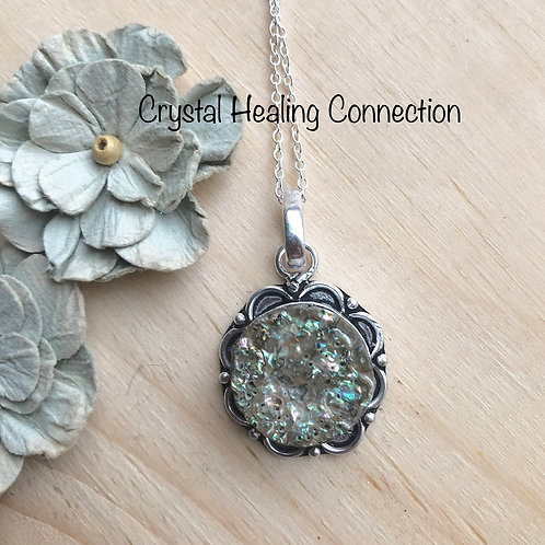 Abalone  Circle Necklace