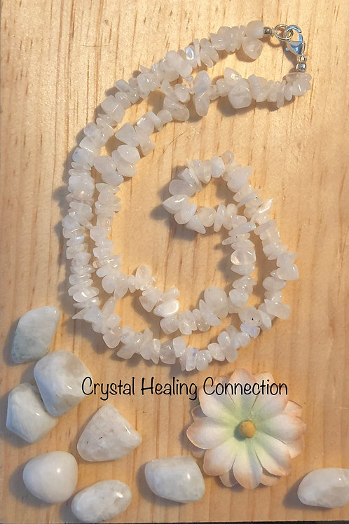 Moonstone Crystal Chip Necklace