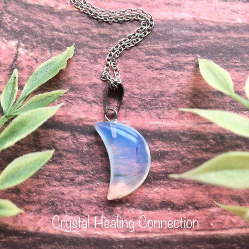 Opalite Mini Moon Necklace
