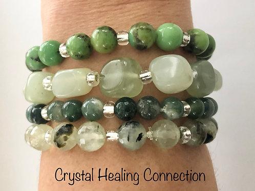 Soft Green Blend Crystal Stackables