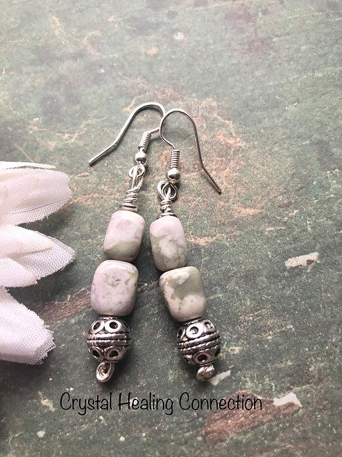 Peace Stone 2 Bead Earrings