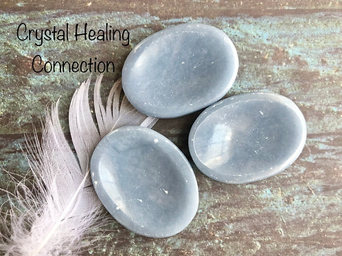 Angelite Worry Stones