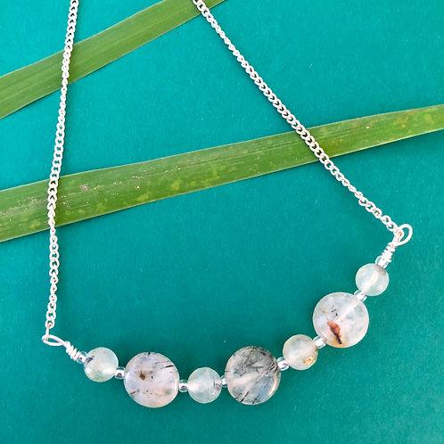 Prehnite with Epidote Necklace