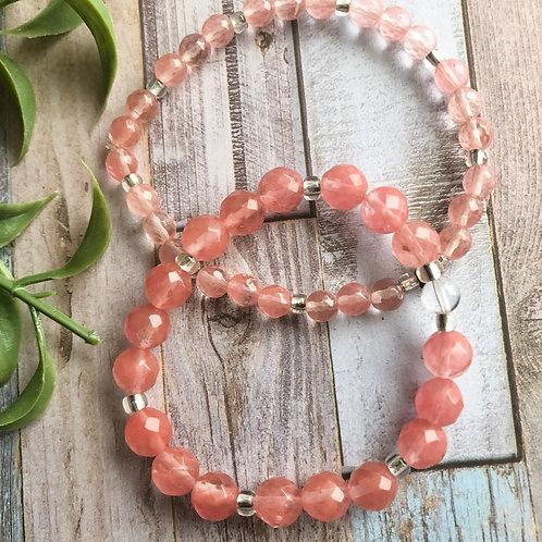 Cherry Quartz Bracelets