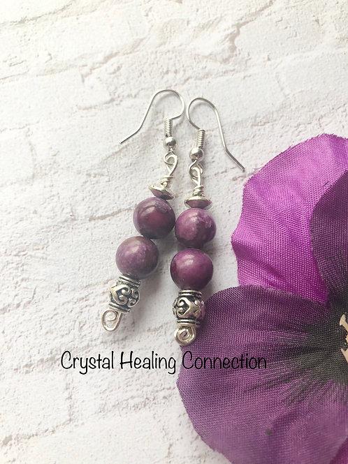 Sugilite 2 Bead earrings