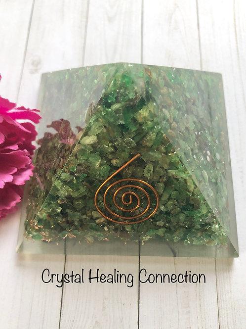 Green Garnet Orgonite Pyramid