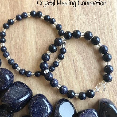 Blue Goldstone Bracelets