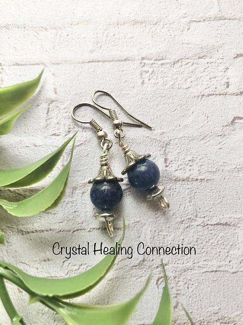 Sodalite 1 Bead Earrings
