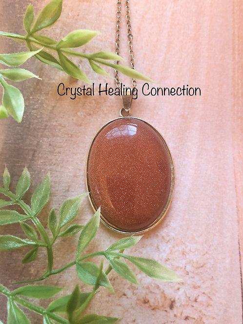 Goldstone Oval Necklace