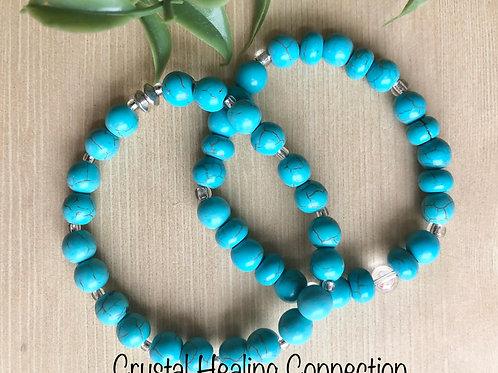 Blue Howlite Bracelets